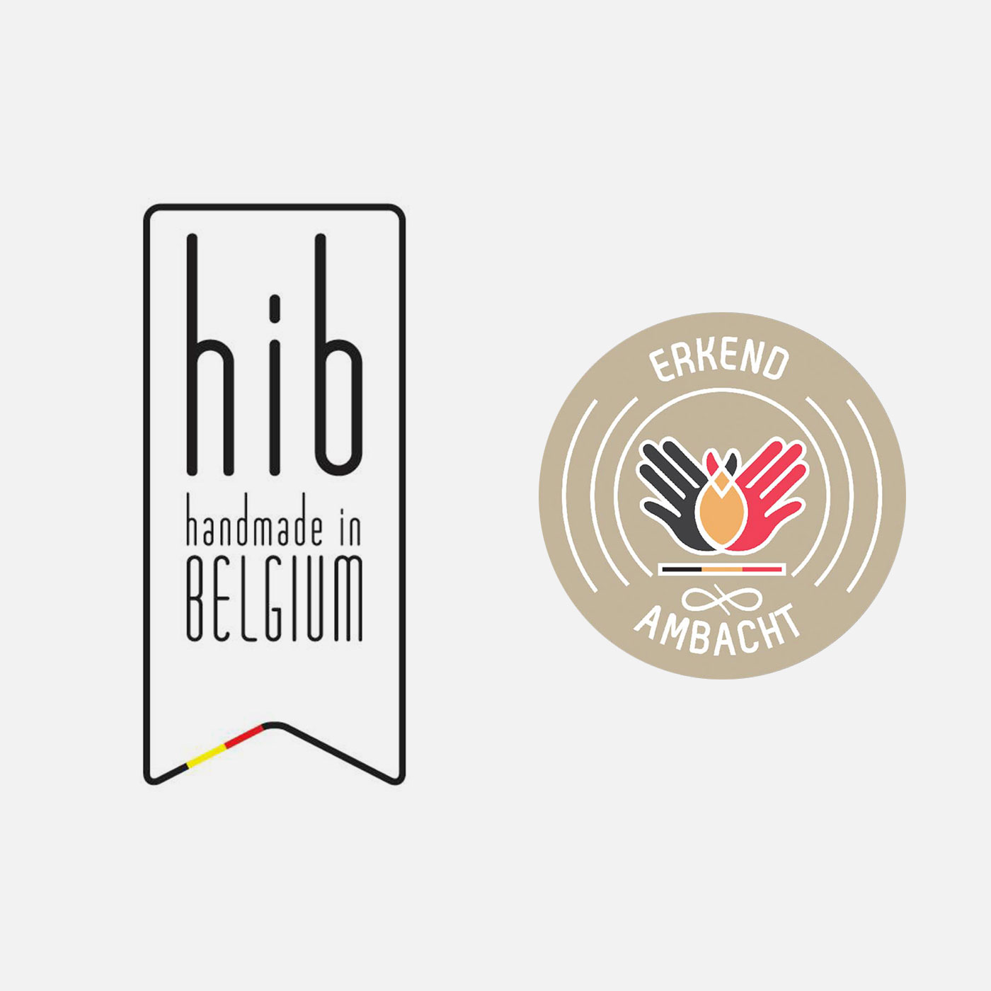 Handmade in Belgium label en Erkend Ambacht label